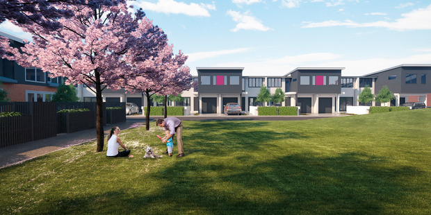 At artist's impression of Springpark, one of the developments Tony Gapes' company Redwood Group was behind. Photo / supplied