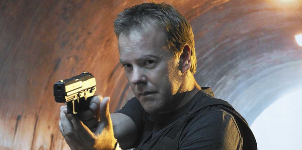 Kiefer Sutherland starred as Jack Bauer in the TV show, 24.