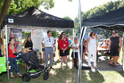 Members of the public and staff from Hastings District Council and others, pictured at a community barbecue at the new Lions Community Park. Photo / Duncan Brown