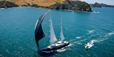 The New Zealand Millennium Cup race for super yachts will be held in the Bay of Islands as part of Sailing Week.PHOTO/JEFF BROWN