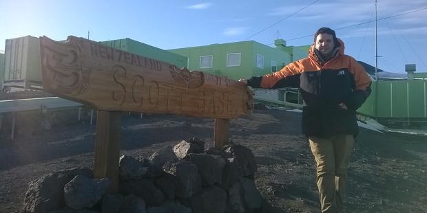 Herald science reporter Jamie Morton at Scott Base.