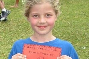 IN THE BEGINNING: Imogen won her first race, the Mangonui School Cross Country at Houhora Golf Course, at the age of 7. PICTURE/SUPPLIED
