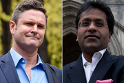Chris Cairns and Lalit Modi. Photos / Getty Images