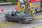 One person has died and two have been injured after a crash in central Auckland this afternoon.