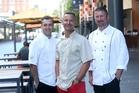Renato Passoni Ribeiro, Nic Watt and Andrew Methven will be cooking in the street. Photo / Doug Sherring
