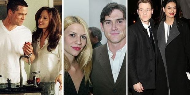 Brad Pitt and Angelina Jolie; Claire Danes and Billy Crudup; Benjamin McKenzie and Morena Baccarin. Photos / Splash