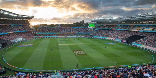 A packed house at Eden Park during last year's Cricket World Cup.