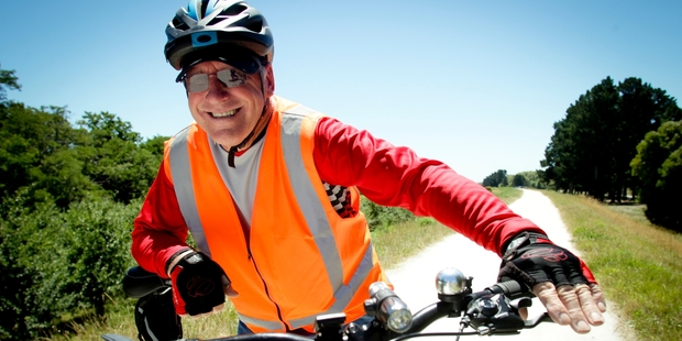 NEW HOBBY: Retiree Allan Sherborne, of Havelock North, has just taken up riding the Rotary Pathways near Havelock North, on his new mountain bike. PHOTO/WARREN BUCKLAND