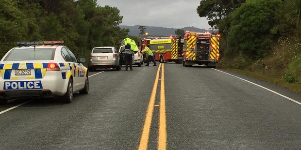 The scene of the crash. Photo / Daniel Hines
