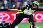 Henry Nicholls in action for the Sydney Thunder. Photo / Getty