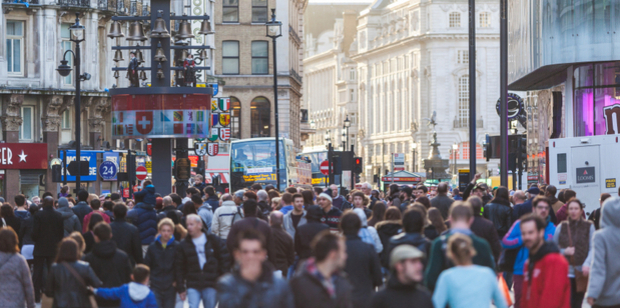 Commuters in London's Leicester Square. Changes to UK laws could put expats at risk. Photo / iStock