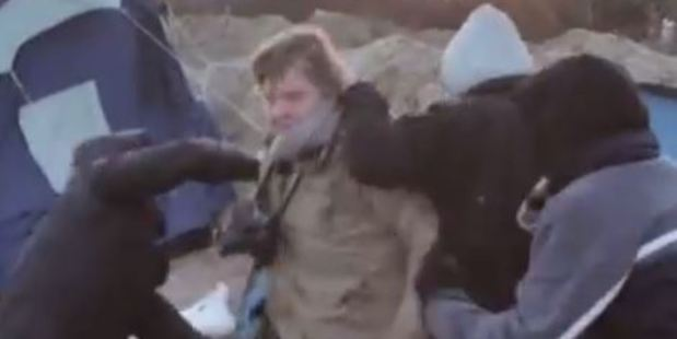 Loading Maaike Engels was filming with her colleague Teun Voeten when he was attacked and pushed into a tent by three young men. Photo: gemini48/YouTube