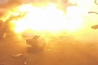 SpaceX founder Elon Musk has released video of its rocket tipping over upon landing and exploding.