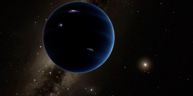 An artist's impression of Planet Nine, which could sit at the edge of our solar system. Photo / R. Hurt, California Institute of Technology