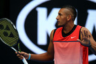 Nick Kyrgios had to change his shorts during his second round win. Photo / Getty
