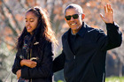 No one yet knows where the Obamas will head on January 20, 2017. Photo of Obama with his daughter Malia. Photo / Getty Images