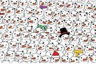 The panda among the snowmen image was shared over 100,000 times on Facebook. Photo / Facebook