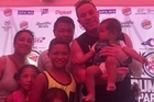 Joseph Parker met with fans during his open training session in Apia.