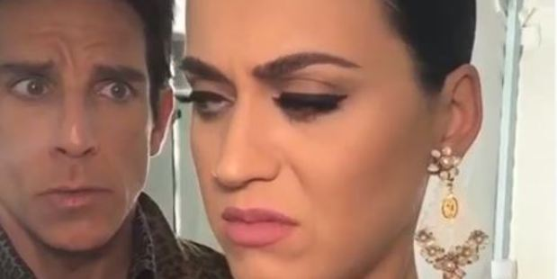 Loading Derek Zoolander wants Katy Perry to relax in a clip posted to her Facebook page.