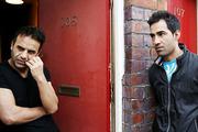Asylum seekers Ajmal Kadari, left, and Rahumullah Ahmedi, said the doors made them a target.
