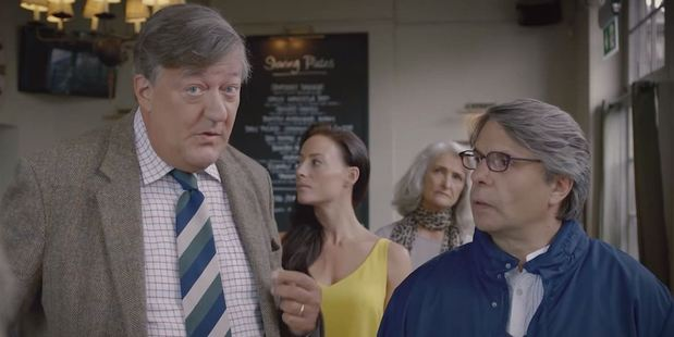 Stephen Fry introduces tourists to a variety of British customs in the video. Photo / YouTube