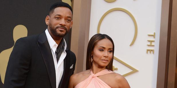Will Smith, left, and Jada Pinkett Smith arrive at the 2014 Oscars. Photo / AP