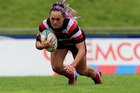New Zealand Sevens star Portia Woodman will be looking to give unbeaten Counties Manukau a spark in the Farah Palmer cup final. Photo / photosport