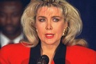 Gennifer Flowers at a press conference in 1992. Photo / AP