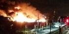Watch: Major fire erupts