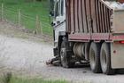 Motorbiker dies after crash with truck
