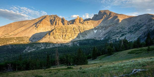 Wheeler Peak stands high over Great Basin National Park. Photo / 123RF