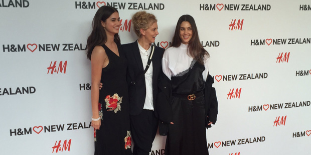 Maia Cotton, Sally Ridge and Jaime Ridge get a preview of the Auckland H&M store last night.