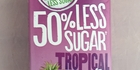 Just Juice 50% less sugar Tropical - $3.09 for 1 litre. Photo / Wendyl Nissen