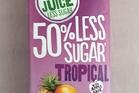 Just Juice 50% less sugar Tropical - $3.09 for 1 litre. Photo / Wendyl Nissen