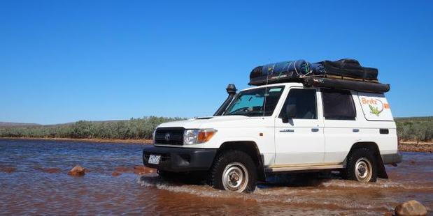 This Safari Landcruiser from Britz was the best way to get around. Photo / Leah McLennan