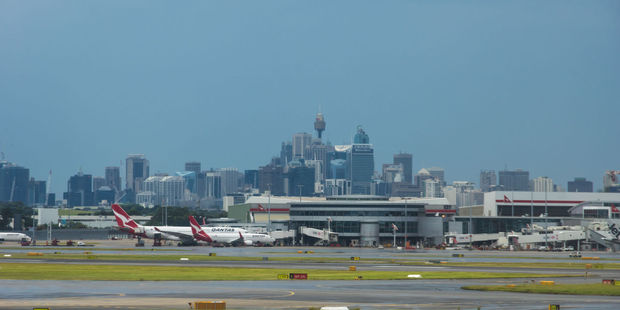 Passengers at Sydney's international airport could face delays on Monday. Photo / 123RF