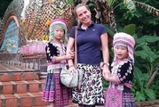 Two girls aged seven and ten were accused of stealing the watch outside a temple in Chiang Mai, northern Thailand. Photo / Reddit / MedardBoss