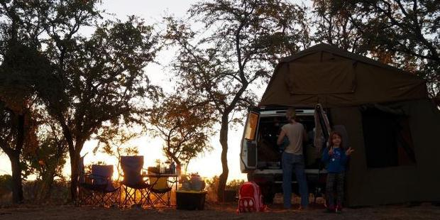Setting up camp. Photo / Leah McLennan