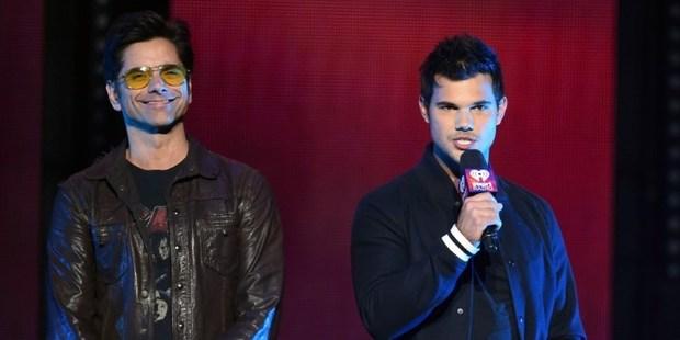 Actors John Stamos and Taylor Lautner. Photo / AP