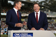 Fox Sports presenters Phil Kearns and Nick McArdle. Photo / Getty Images.