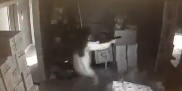 Loading Surveillance video released by the Gwinnett County Police Department shows the incident unfold in the early morning hours September 16. Photo / Supplied