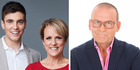 Breakfast hosts Jack Tame and Hilary Barry are facing off against TV3's Paul Henry for morning TV ratings.