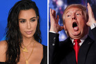 Kim Kardashian says she won't be voting for Donald Trump in the upcoming US presidential election. Photo / AFP, AP