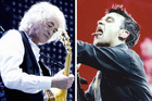 Jimmy Page was mocked by Robbie Williams at his concert. Photo /  AP