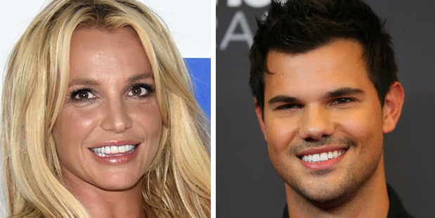 Singer Britney Spears tried to set up actor Taylor Lautner with her younger sister. Photo / AP, Getty
