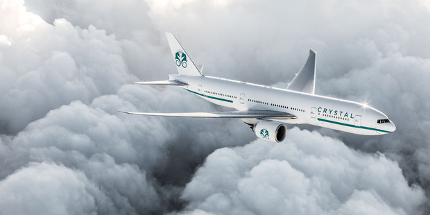 Crystal will start flying its new privately-owned Boeing 777-200LR in the spring of 2017. Photo / Supplied