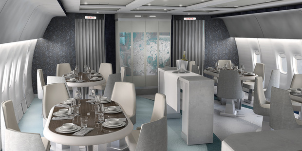 Boasting a spacious dining area decked out with leather chairs, fine porcelain and crystalware, this looks like a swanky, top-dollar restaurant. Photo / Supplied