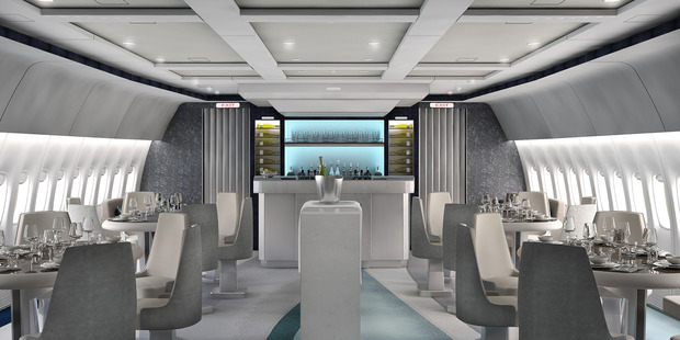 The fully-stocked bar will carry a range of top shelf spirits and fine wines for passengers to sip on. Photo / Supplied