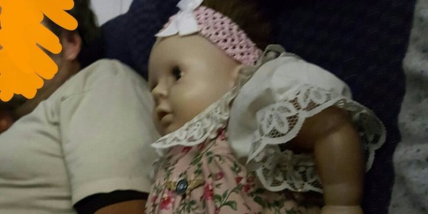 After discovering the man had bought the doll a ticket, writer Ms Novic said the flight attendant told the man not to book under Barbara's name next time they fly together. Photo / Twitter, Sara Novic