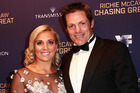 Gemma Flynn with fiance Richie McCaw at the premiere of Chasing Great. Photo / Supplied